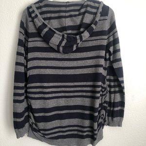 Motherhood Maternity Sweaters - Motherhood Maternity Hooded Ruched Sweater